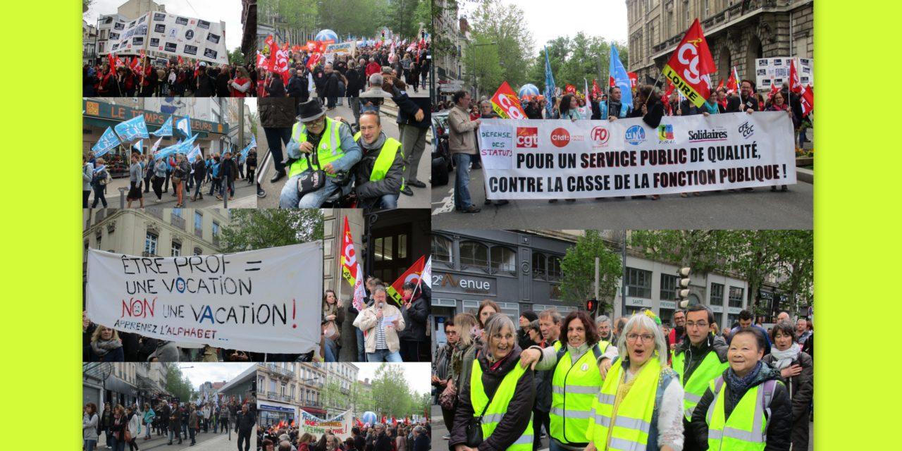 Manif pour la défense des services publics!