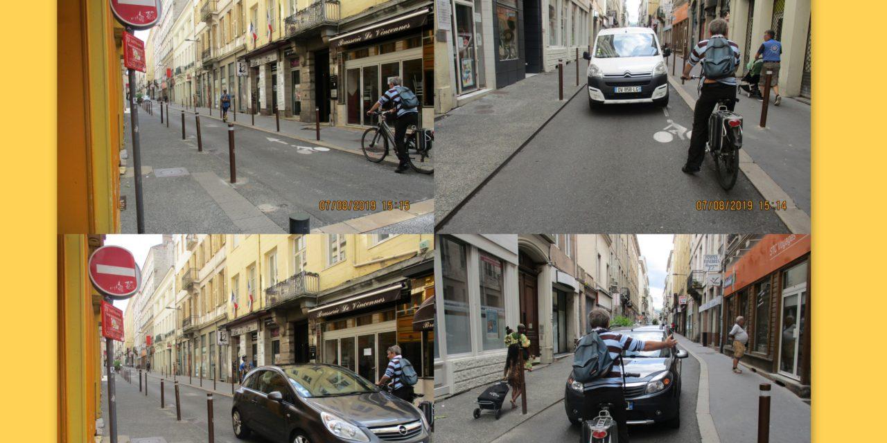 Vidéo A Sainté des pistes cyclables pour des cyclistes suicidaires?