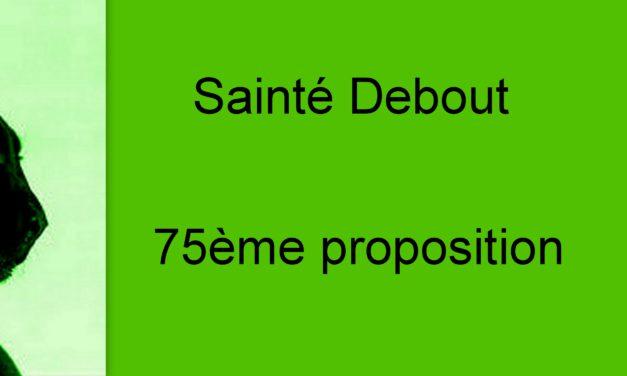 Proposition 75: Penser l'enfant dans la ville